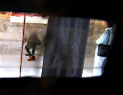 Vue de l'intérieur d'une des burqas