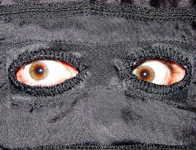 Les yeux derrière la burqa